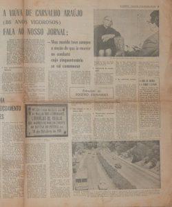 Entrevista à viúva do Herói, o Comandante Carvalho Araújo
